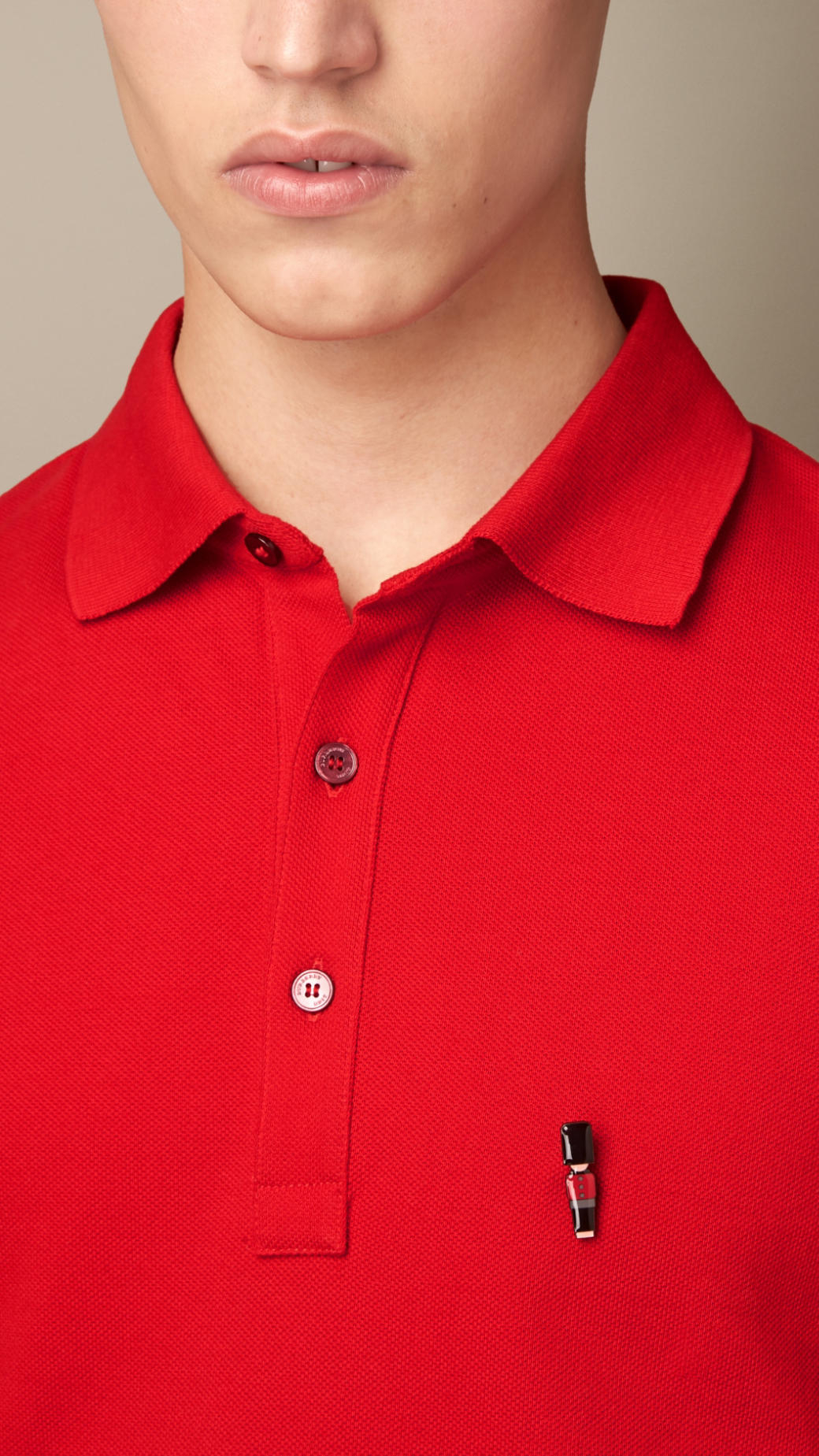 06c5b0cb Burberry Guardsman Pin Polo Shirt in Red for Men - Lyst