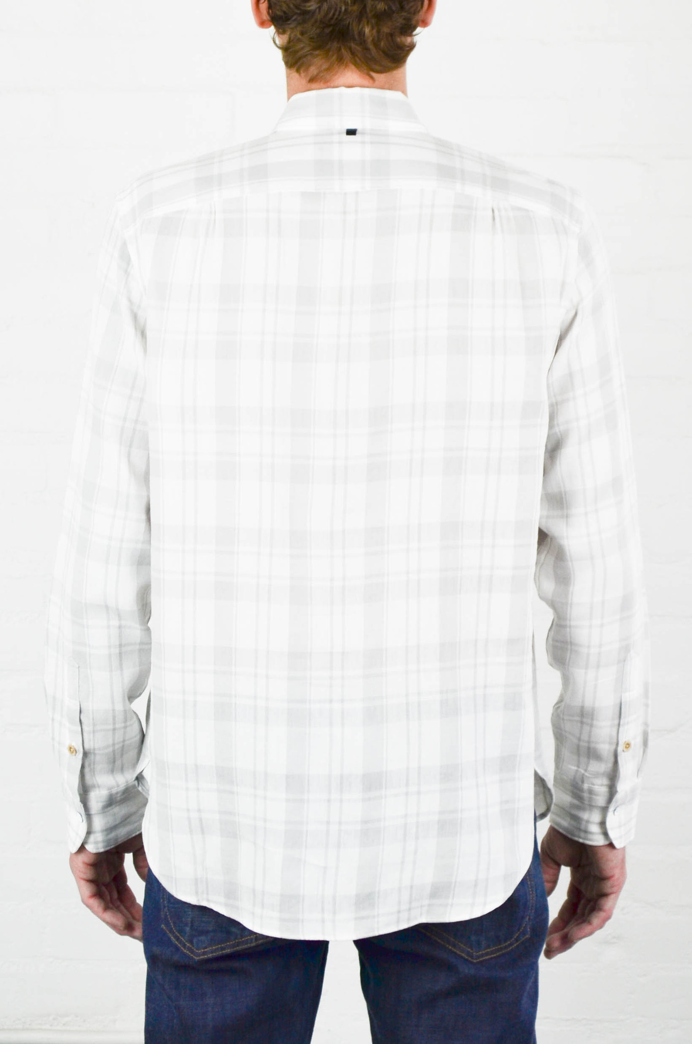 Rag bone white and grey beach shirt in white for men lyst for Rag and bone white t shirt