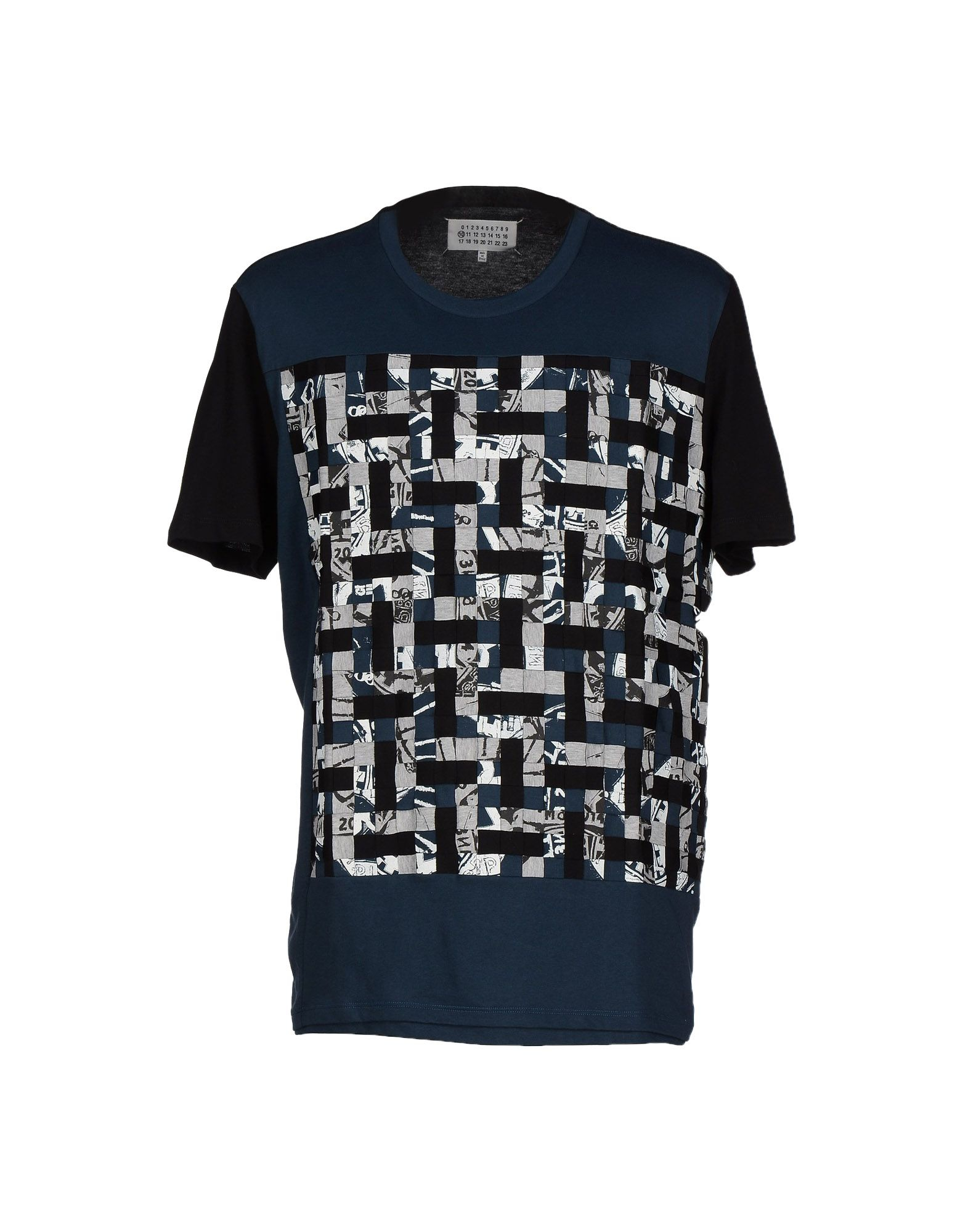 maison margiela t shirt in blue for lyst