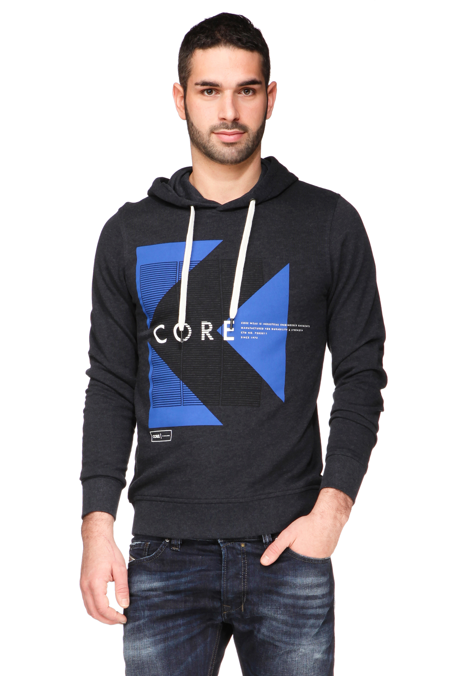lyst jack jones sweatshirt in blue for men. Black Bedroom Furniture Sets. Home Design Ideas