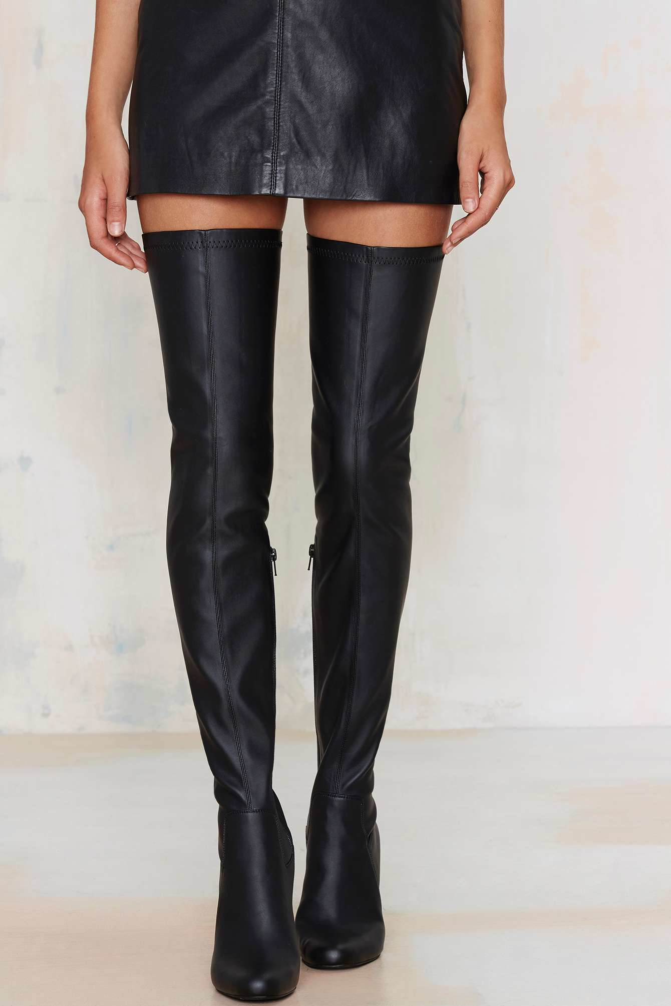 47e7205a5c9 Lyst - Jeffrey Campbell Perouze Thigh High Boot in Black