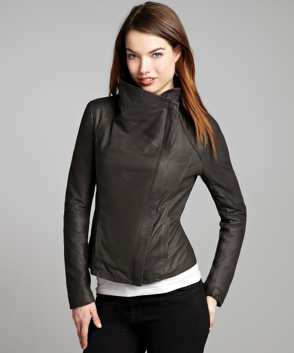 Tahari leather jacket