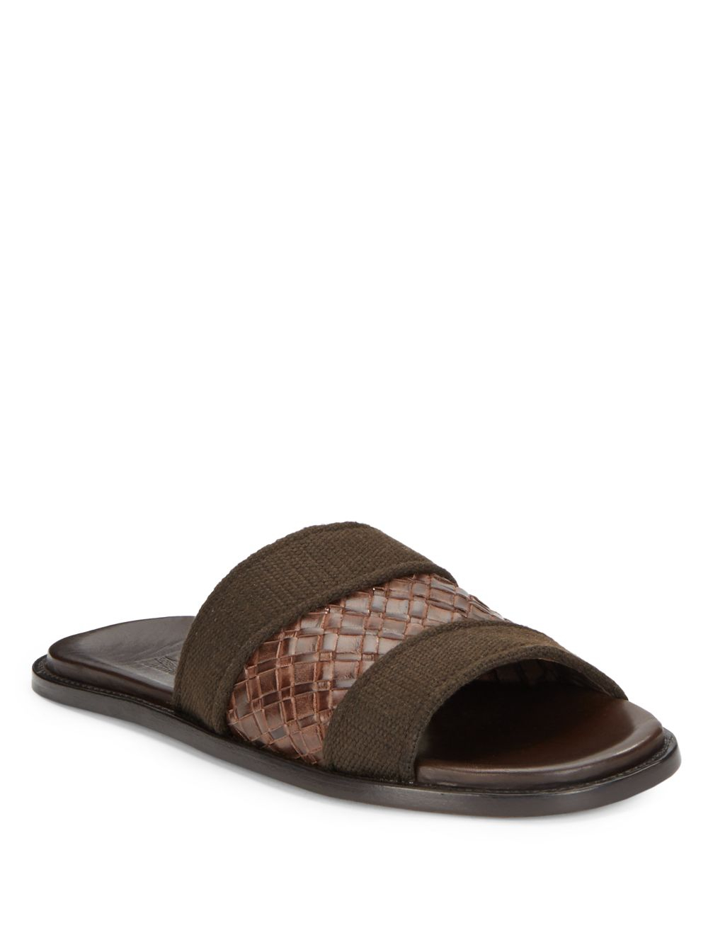 Ferragamo Bud Woven Leather Sandals In Brown For Men Lyst