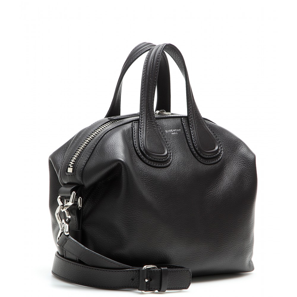 9e03ce9d319b Lyst - Givenchy Nightingale Small Leather Tote in Black