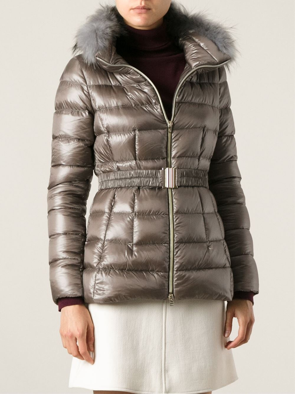 Lyst Herno Padded Jacket In Brown