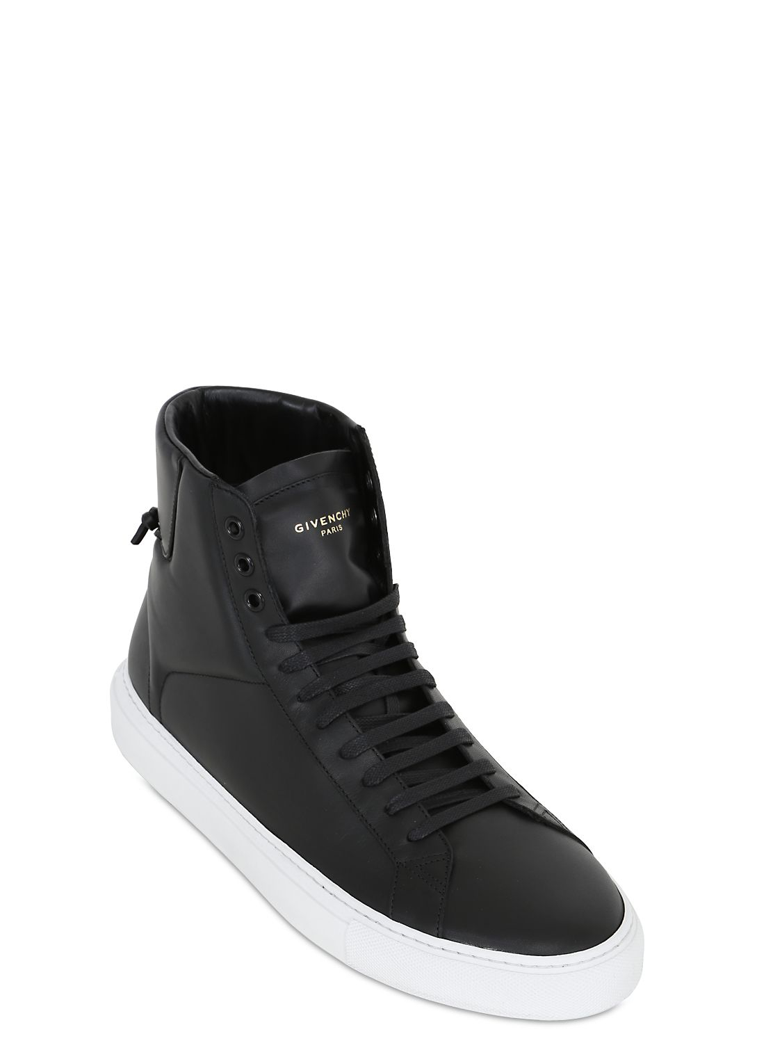 Lyst Givenchy Urban Street Leather High Top Sneakers In