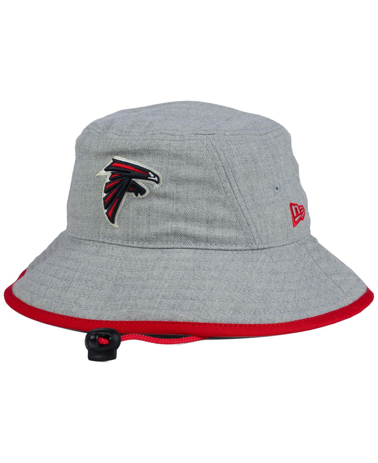 4a1e9128ce KTZ Atlanta Falcons Nfl Heather Gray Bucket Hat in Gray for Men - Lyst