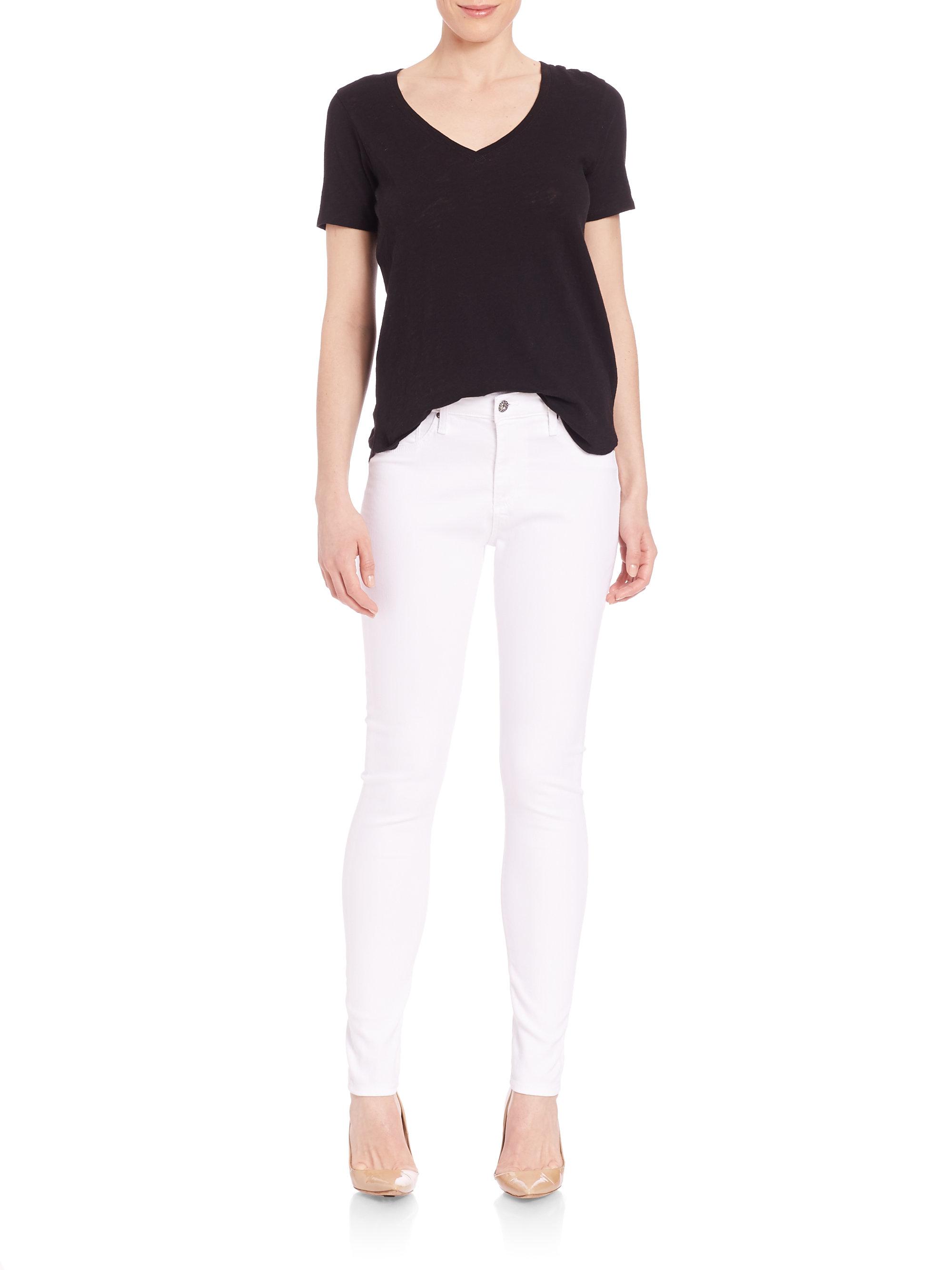 Ag White Skinny Jeans