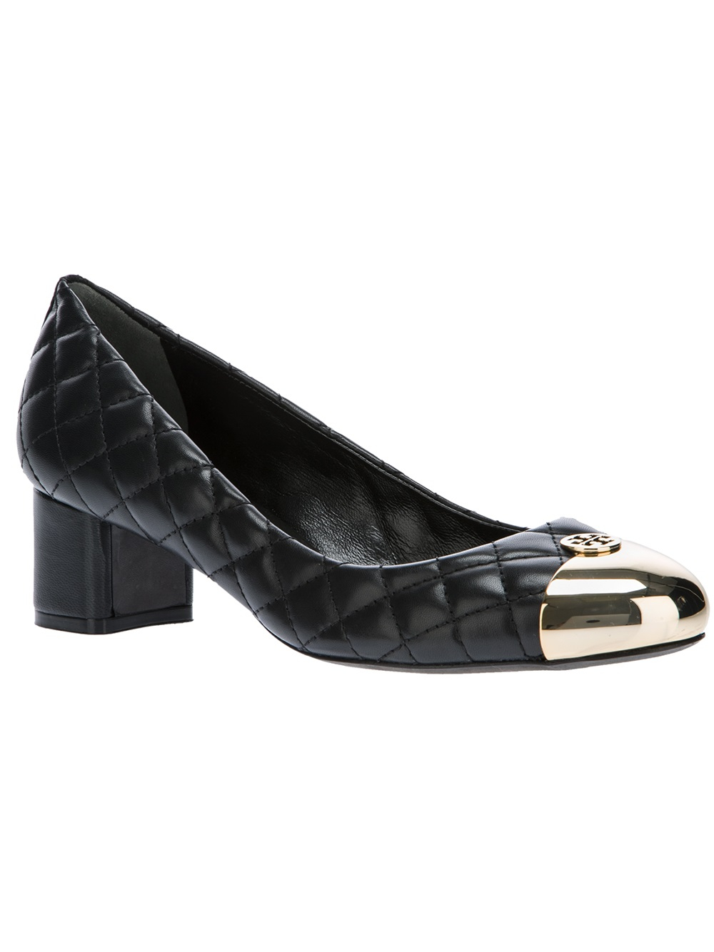 03135e529384 Lyst - Tory Burch Kaitlin Quilted Pump in Black
