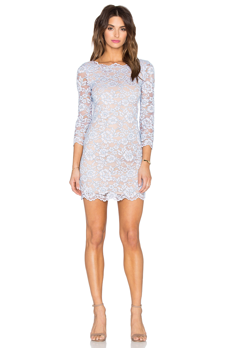 Lyst diane von furstenberg zarita lace dress in purple for Diane von furstenberg clothes