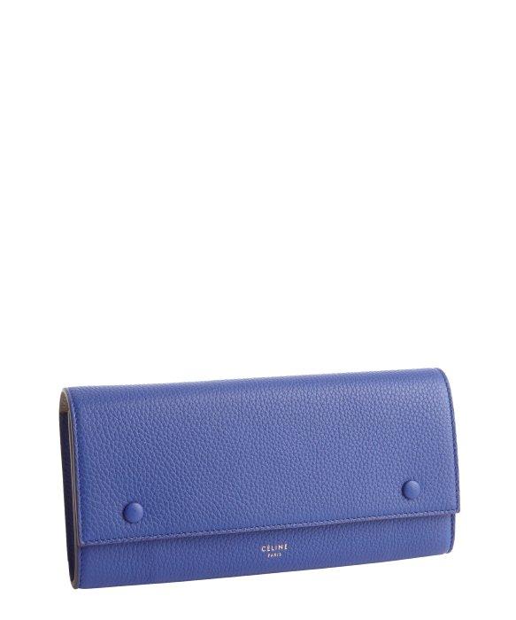 C��line Indigo Textured Leather Continental Wallet in Blue (indigo ...