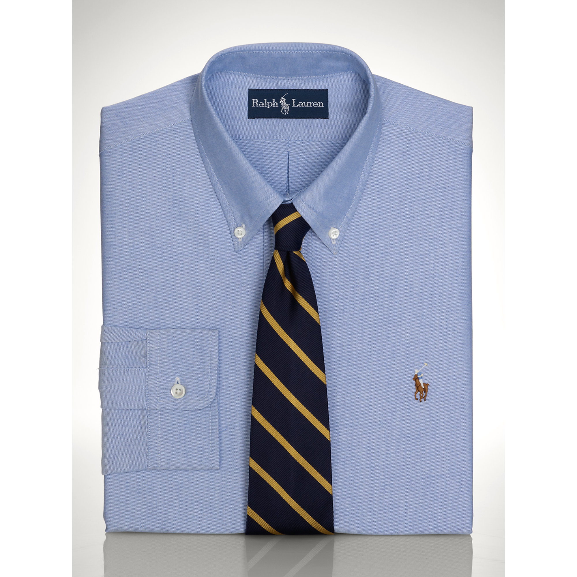 pink pony pinpoint oxford dress shirt in blue for men lyst