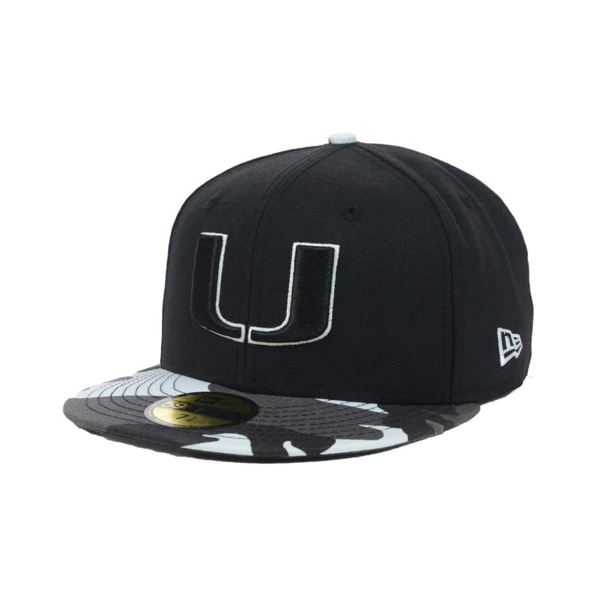 ... reduced lyst ktz miami hurricanes urban camo 59fifty cap in black save  off 1af07 830c1 6b79a 49ef1bbc6083
