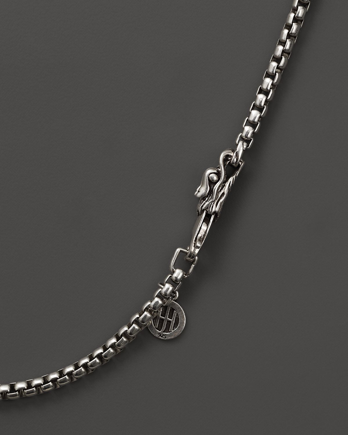 Lyst John Hardy Naga Sterling Silver Box Chain Necklace
