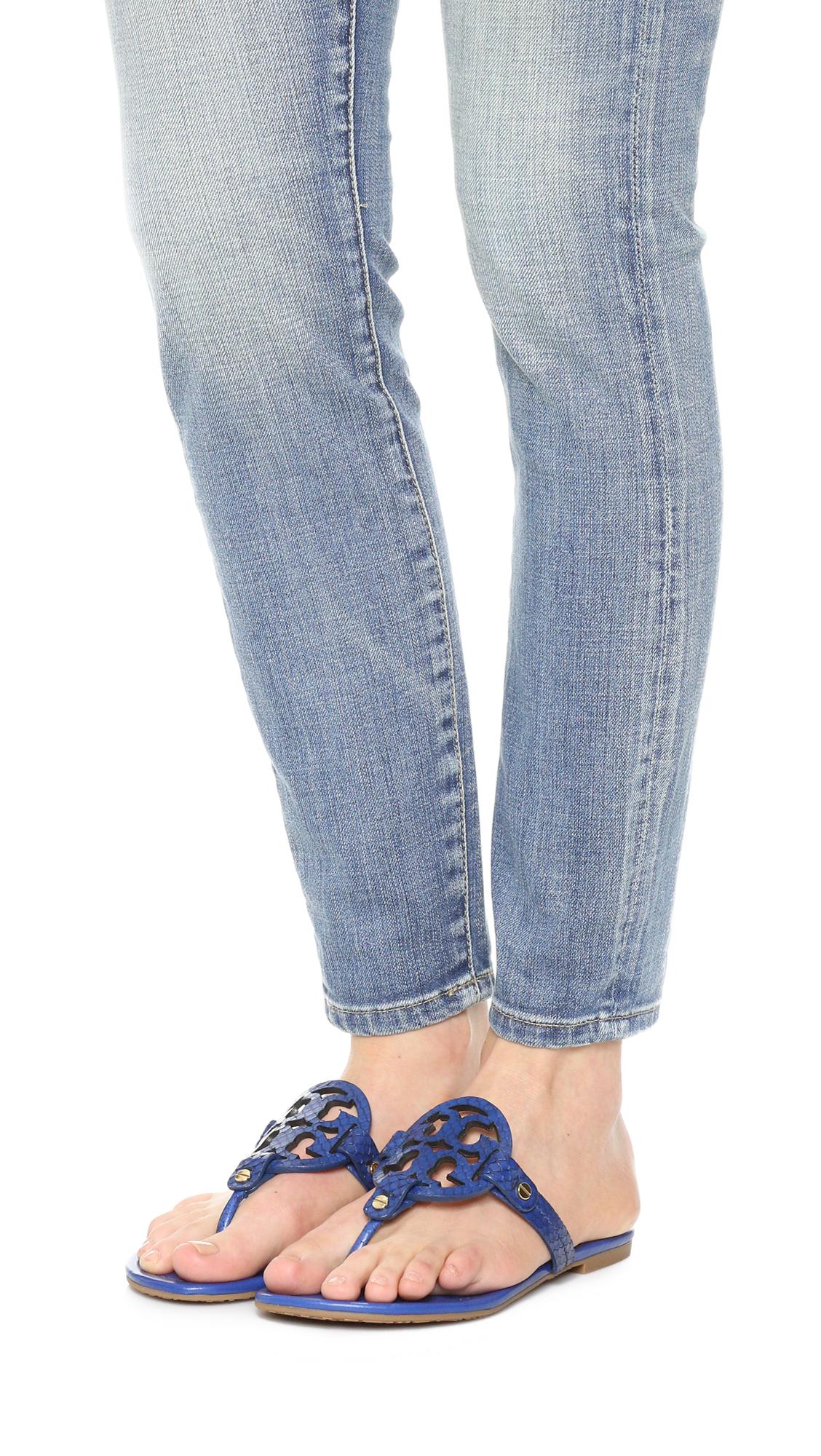 173b8456baf54 Lyst - Tory Burch Miller Sandals in Blue