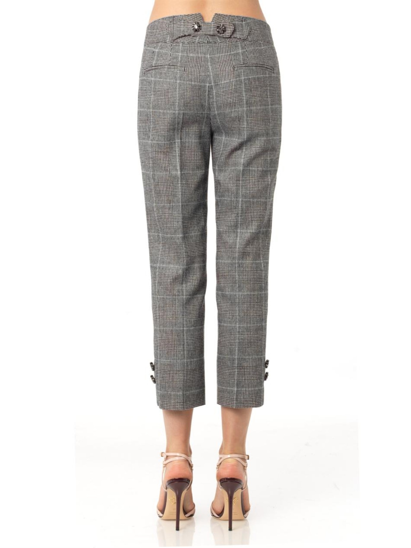 Lyst Dolce Amp Gabbana Prince Of Wales Check Trousers In Gray