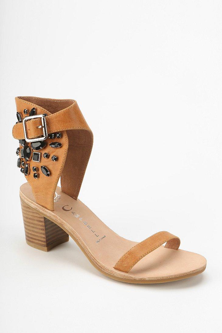57e23f5f4 Lyst - Jeffrey Campbell Iowa Anklewrap Sandal in Black