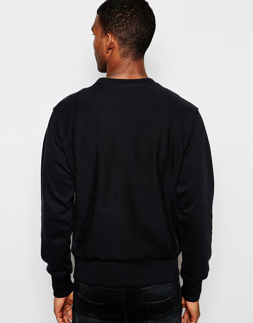 Champion Sweatshirt With Big C Logo In Black For Men Lyst