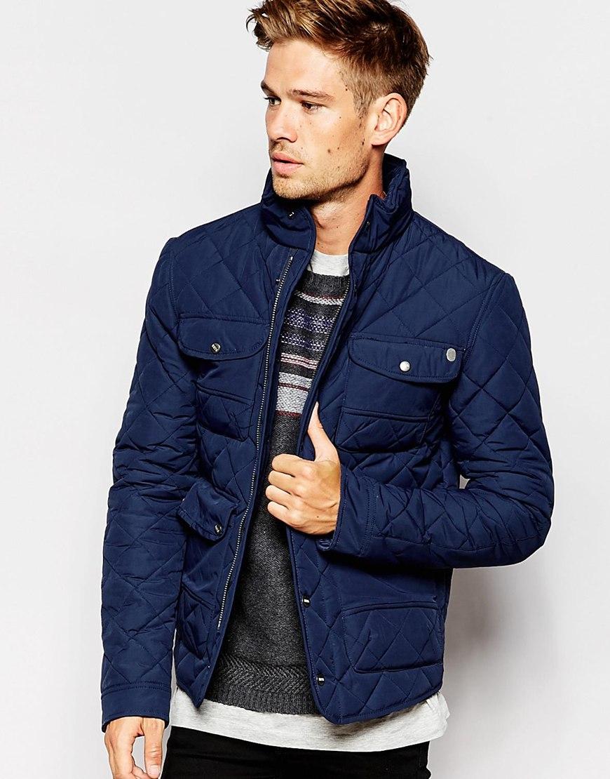 Lyst - Pepe Jeans Pepe Heritage Quilted Jacket Huntsman Concealed ... 5efc4745a