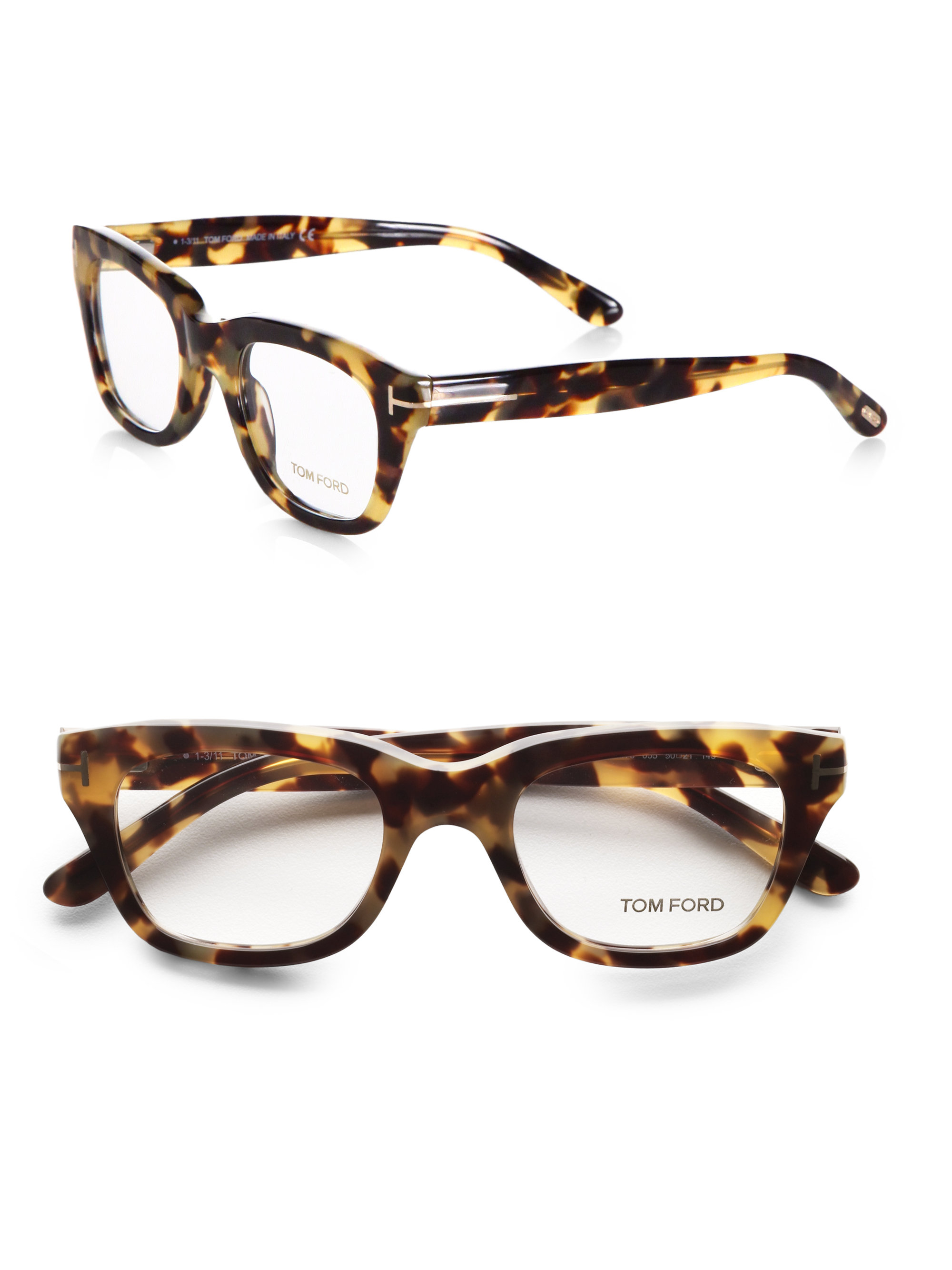 Lyst Tom Ford 5178 Square Optical Frames In Brown For Men
