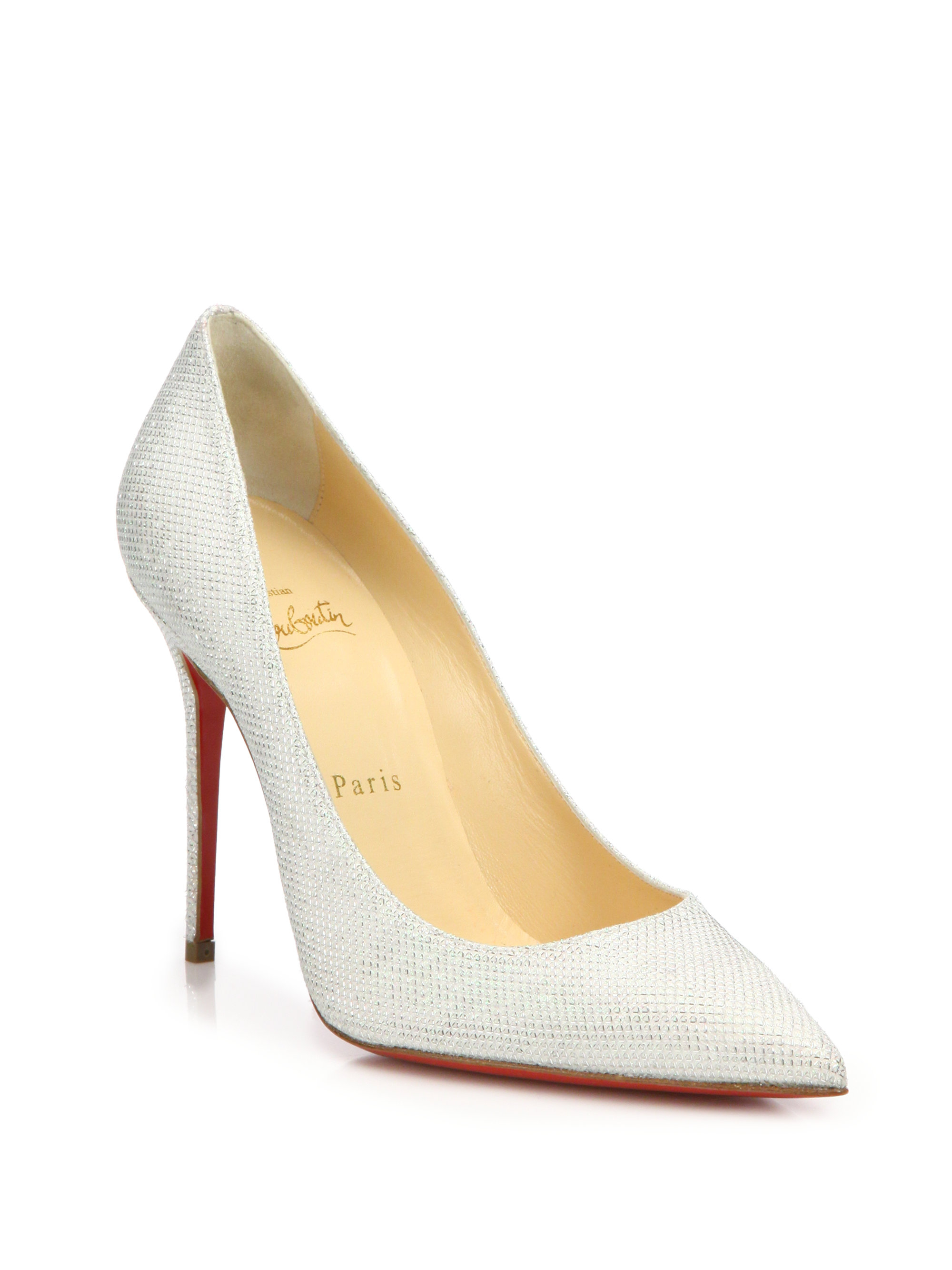christian louboutin decollete white