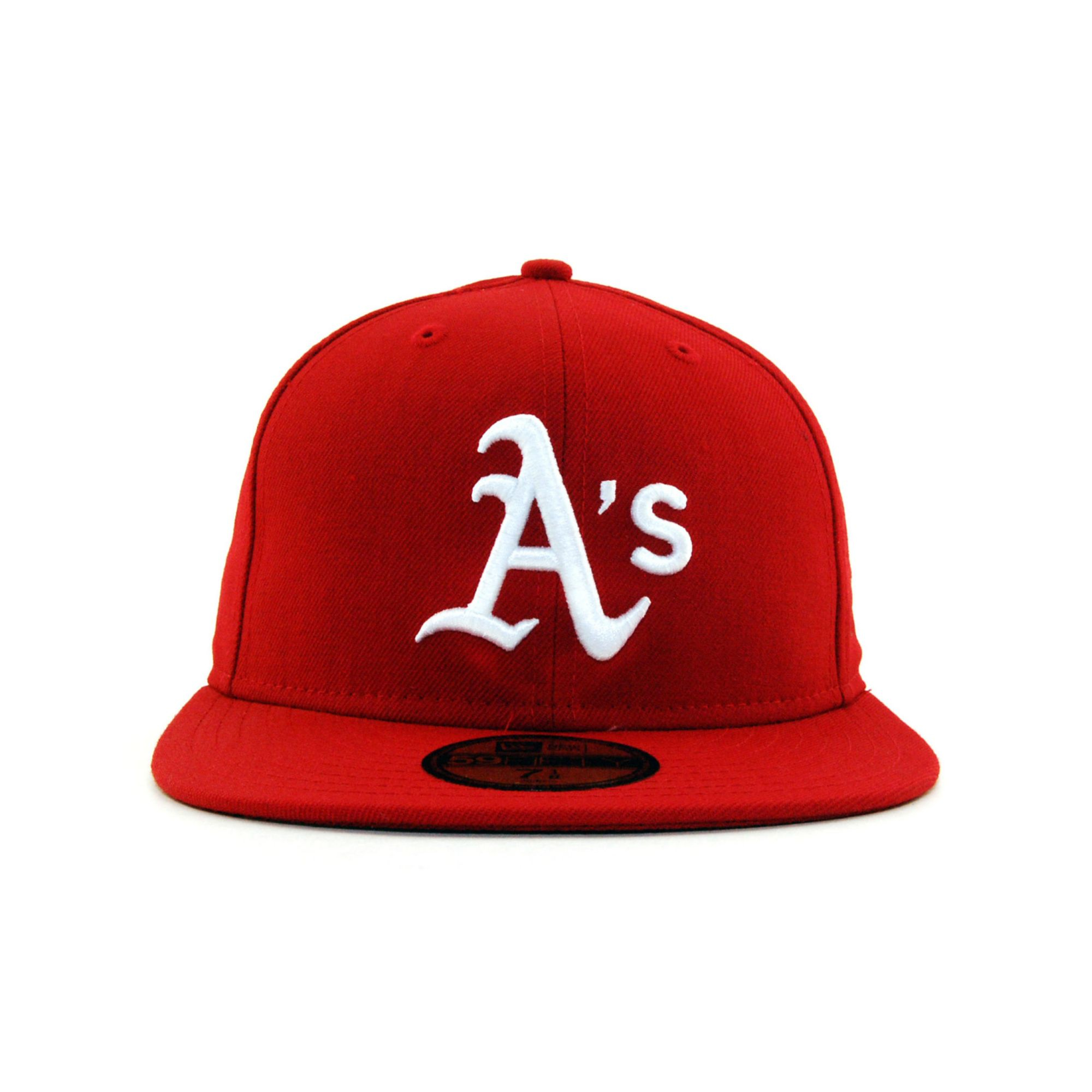 the best attitude eee69 e5d9a KTZ Oakland Athletics Cdub 59fifty Cap in Red for Men - Lyst