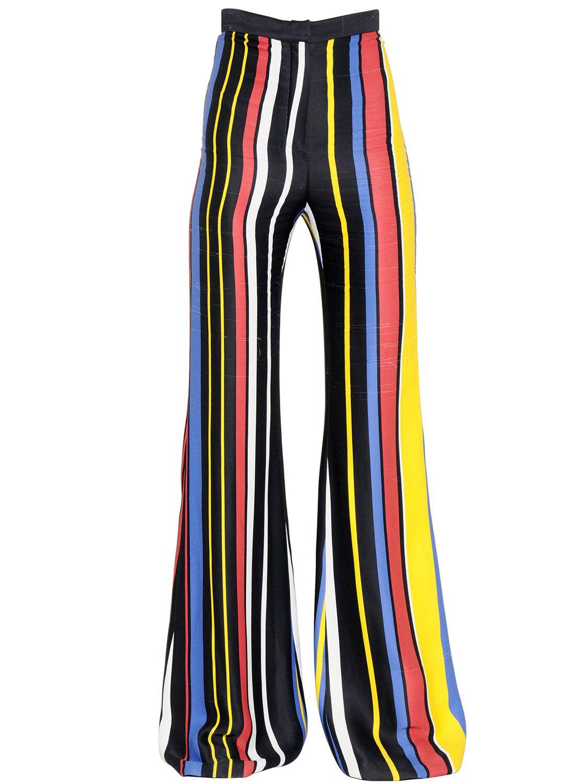 Mens multicolor striped pants