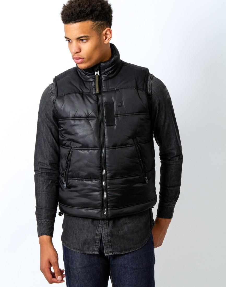 g star raw whistler vest myrow nylon in black in black for men lyst. Black Bedroom Furniture Sets. Home Design Ideas
