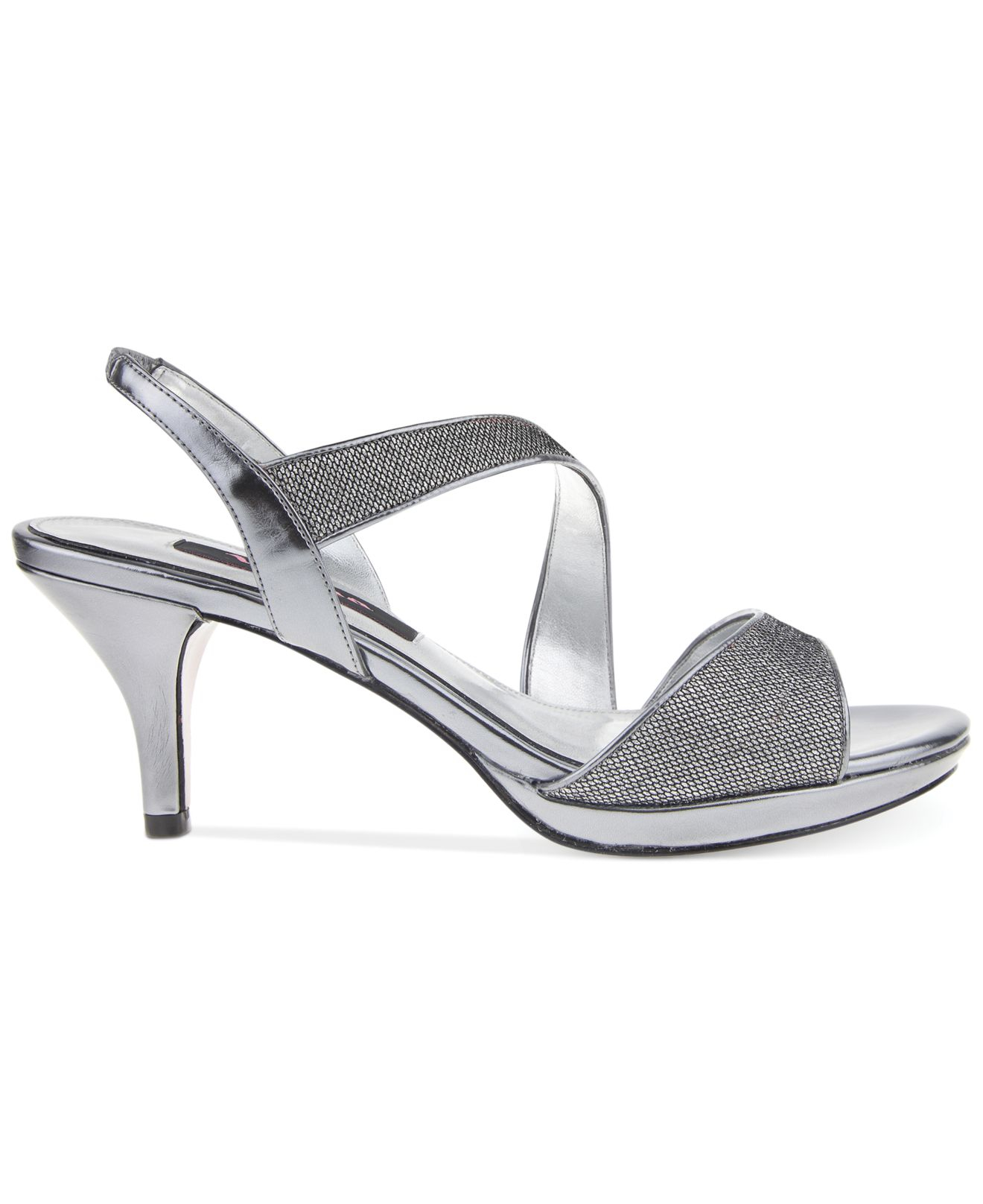 Lyst Nina Newark Evening Sandals In Gray