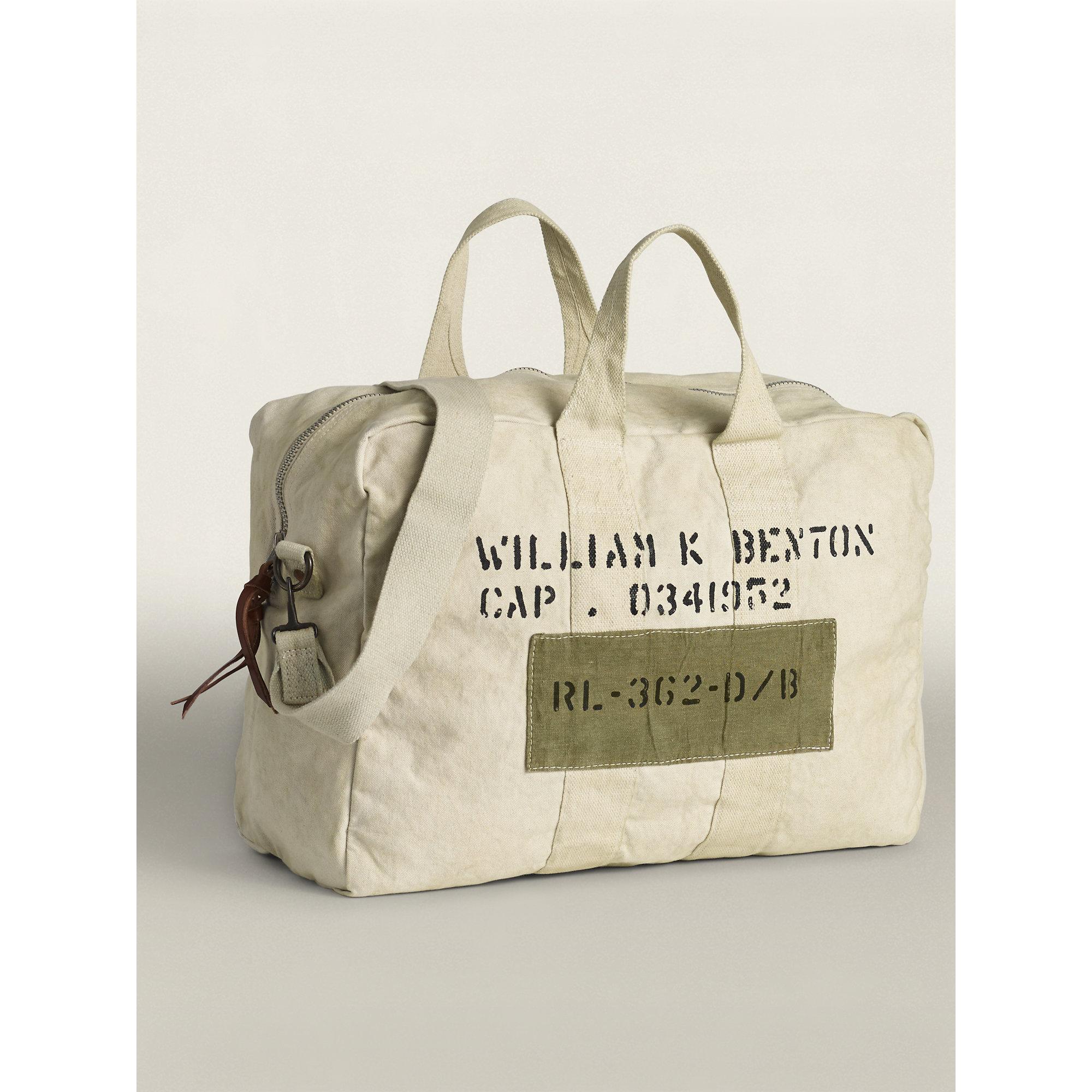 4c91cbd5d6 Lyst - RRL Canvas Kit Bag in Natural for Men