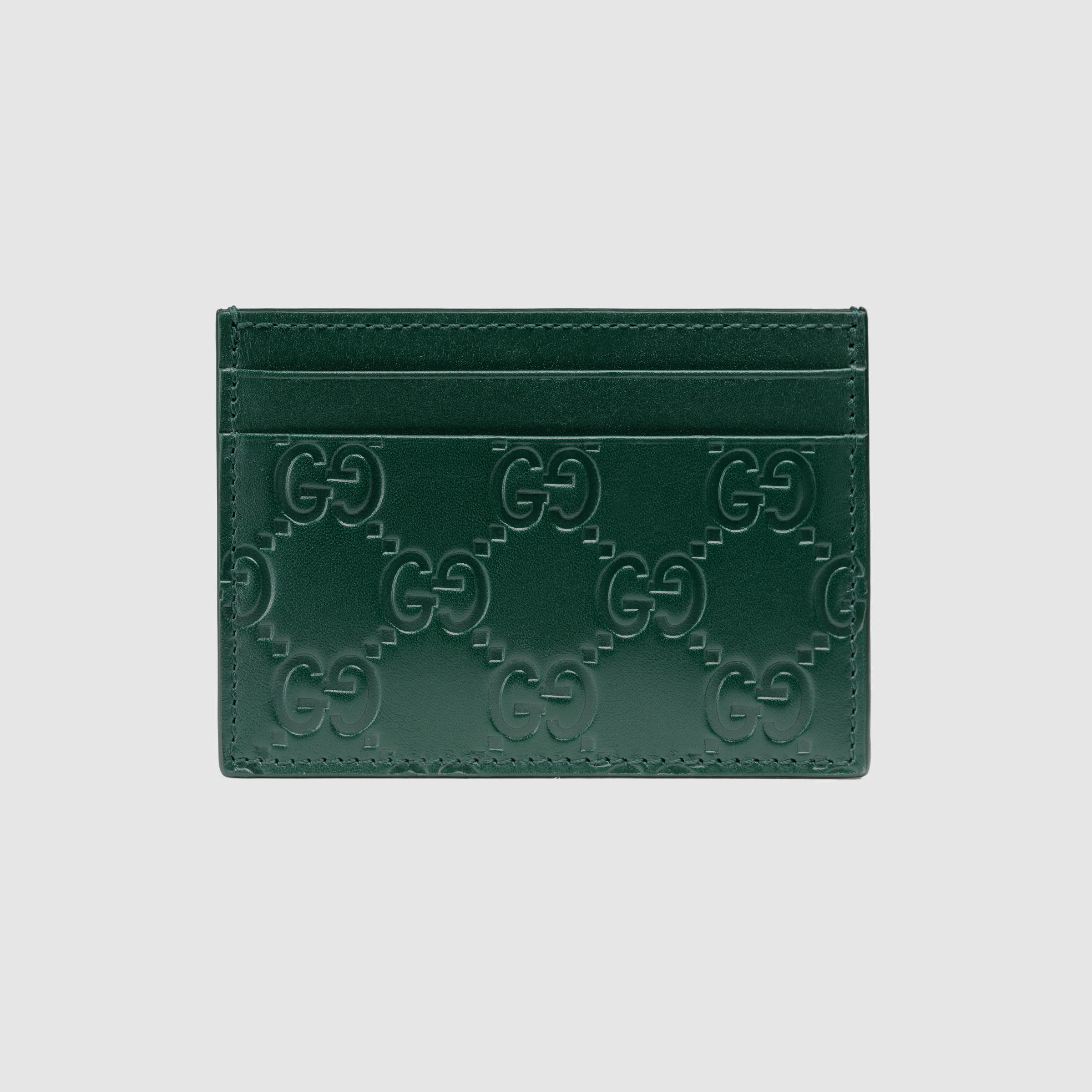 892488b11dbb Lyst - Gucci Signature Card Case in Green