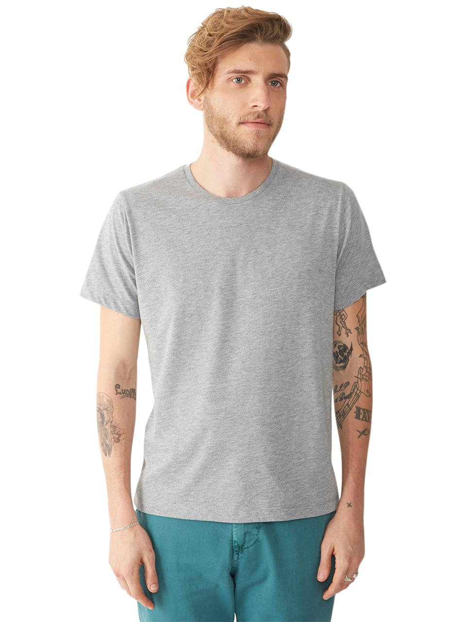 Alternative apparel basic mens crew t shirt in gray for Mens heather grey t shirt