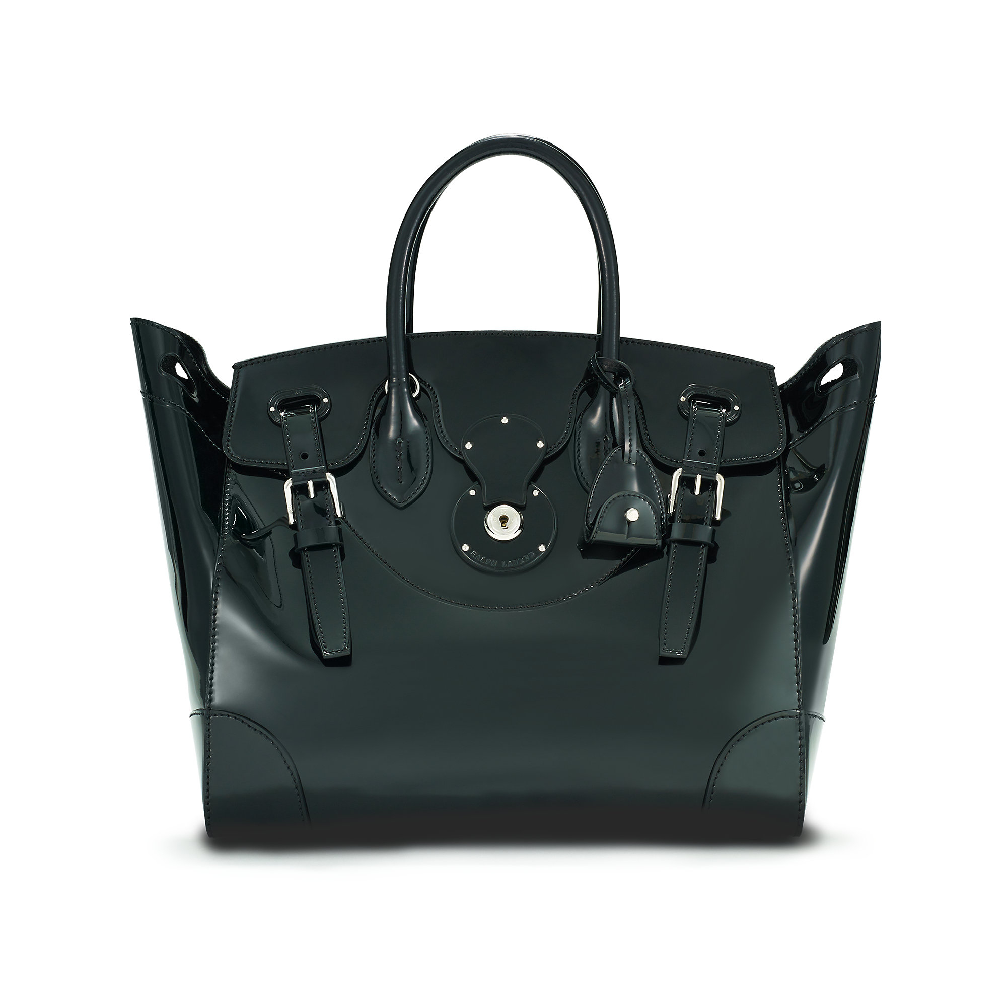 10f576cc9b Lyst - Pink Pony Patent Leather Soft Ricky Bag in Black