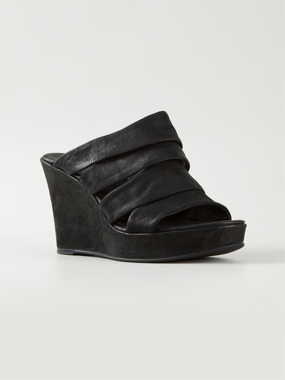 Lyst The Last Conspiracy Wedge Mules In Black