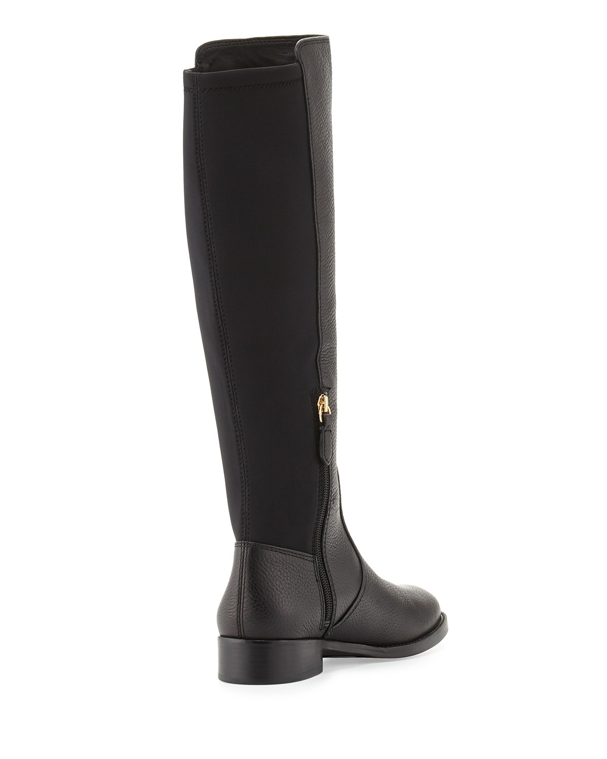 8d17416b1ca7 ... sweden lyst tory burch selden pebbled leather riding boots in black  76ff2 8051c