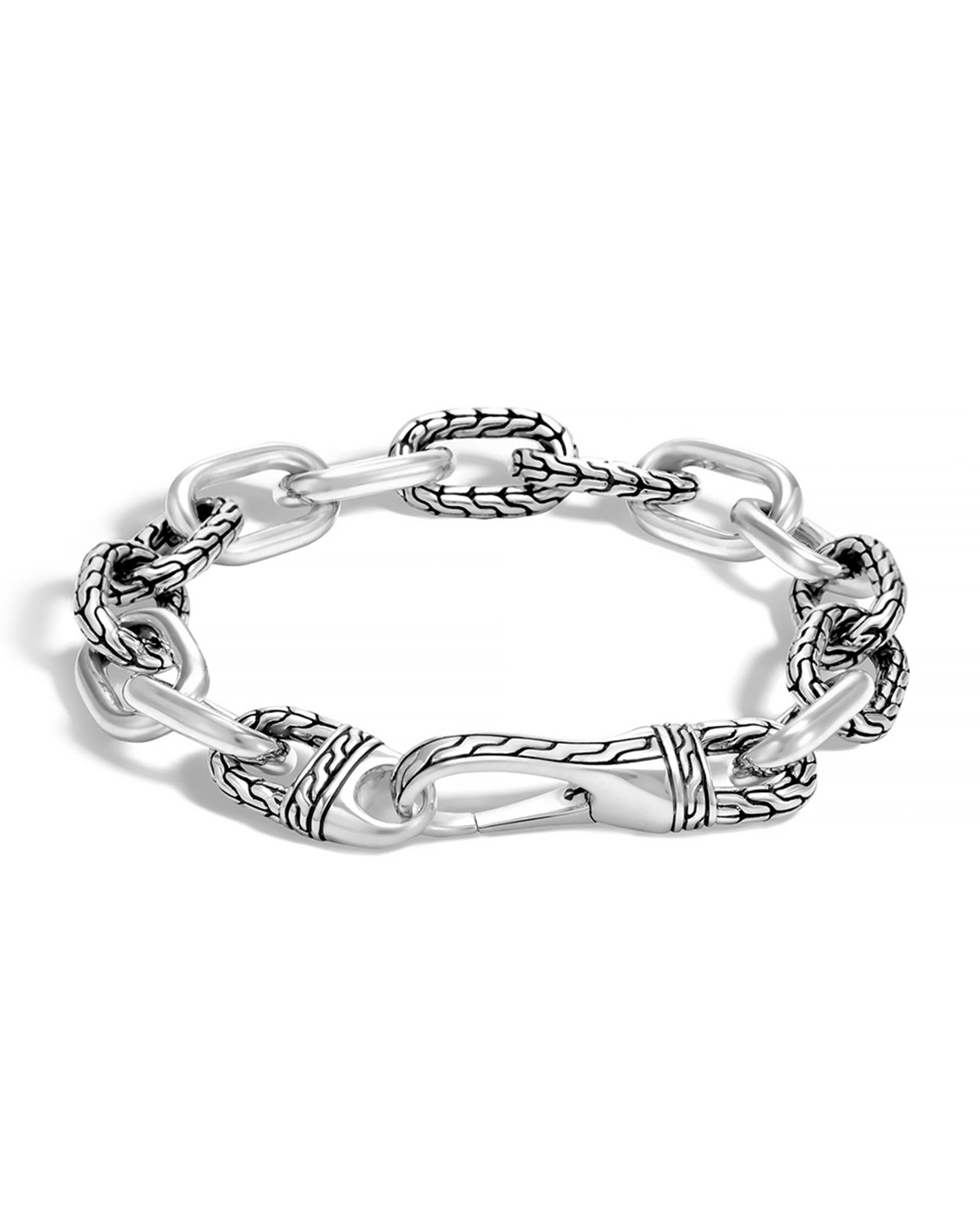 John hardy men 39 s classic chain link bracelet in metallic for John hardy jewelry factory bali