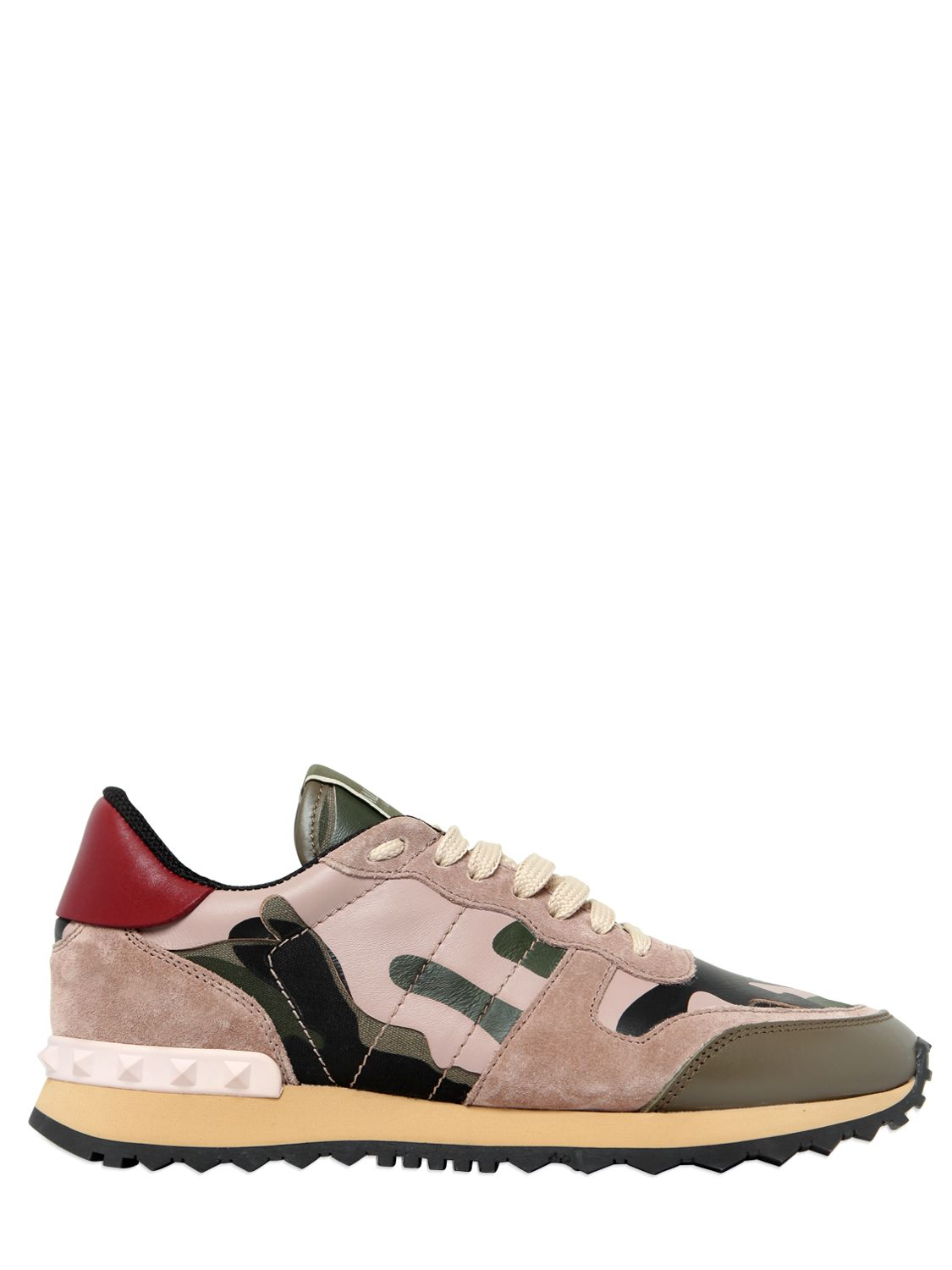 Camouflage Sneakers in Shadow Pink and Navy Suede Valentino dBgdp