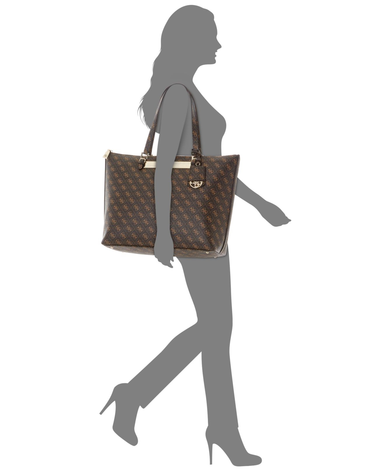 8829ea7f19cc Lyst - Guess Isla Extra Large Tote in Brown