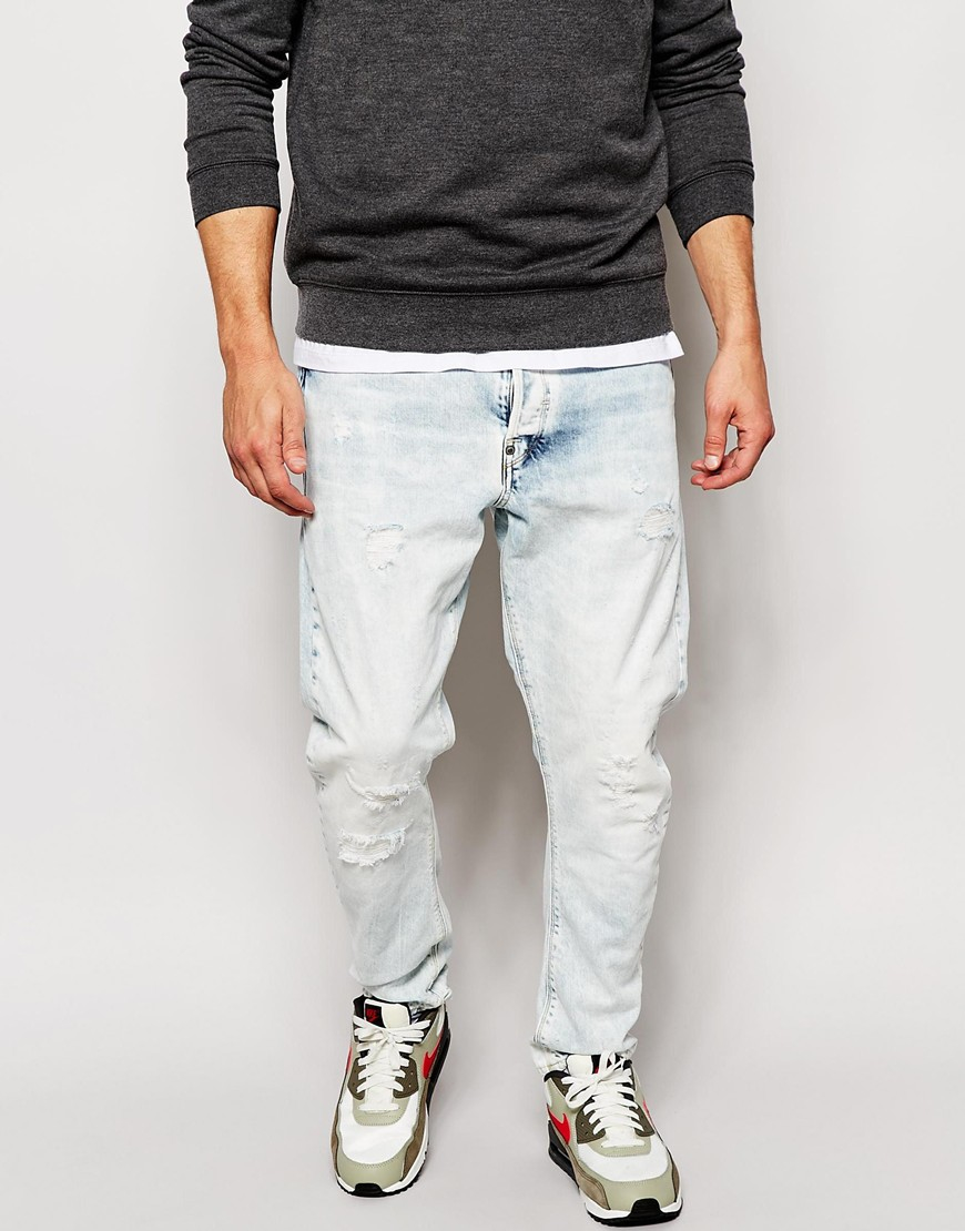 g star raw jeans type c 3d loose tapered fit troop bleach. Black Bedroom Furniture Sets. Home Design Ideas