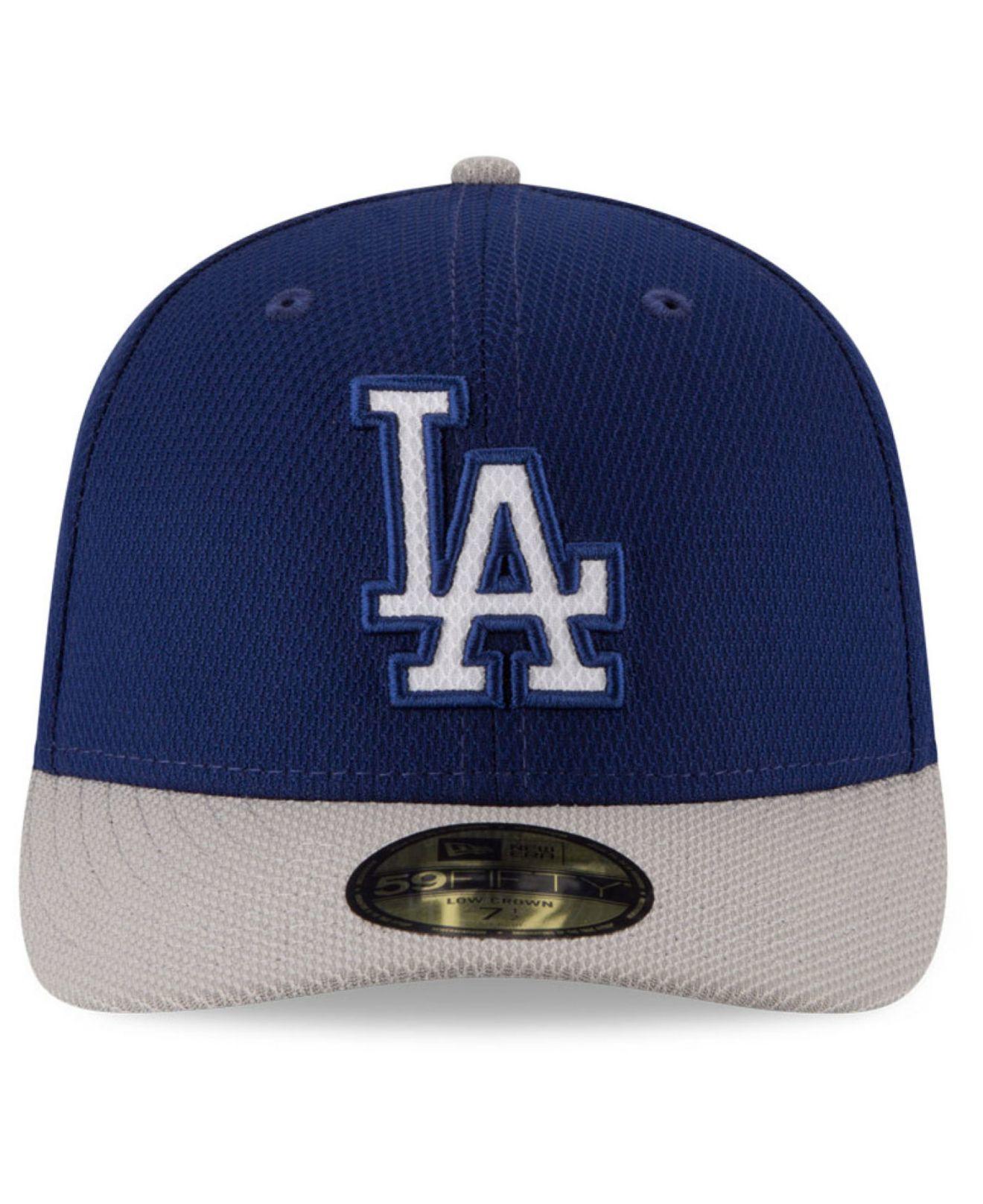 f9f2da099c6 Lyst - KTZ Los Angeles Dodgers Low Profile Diamond Era 59fifty Cap ...
