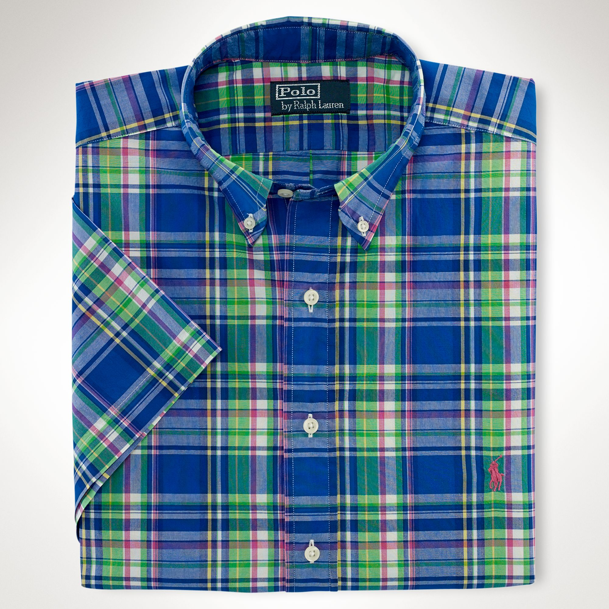 Polo ralph lauren classicfit plaid sport shirt in green Emerald green mens dress shirt
