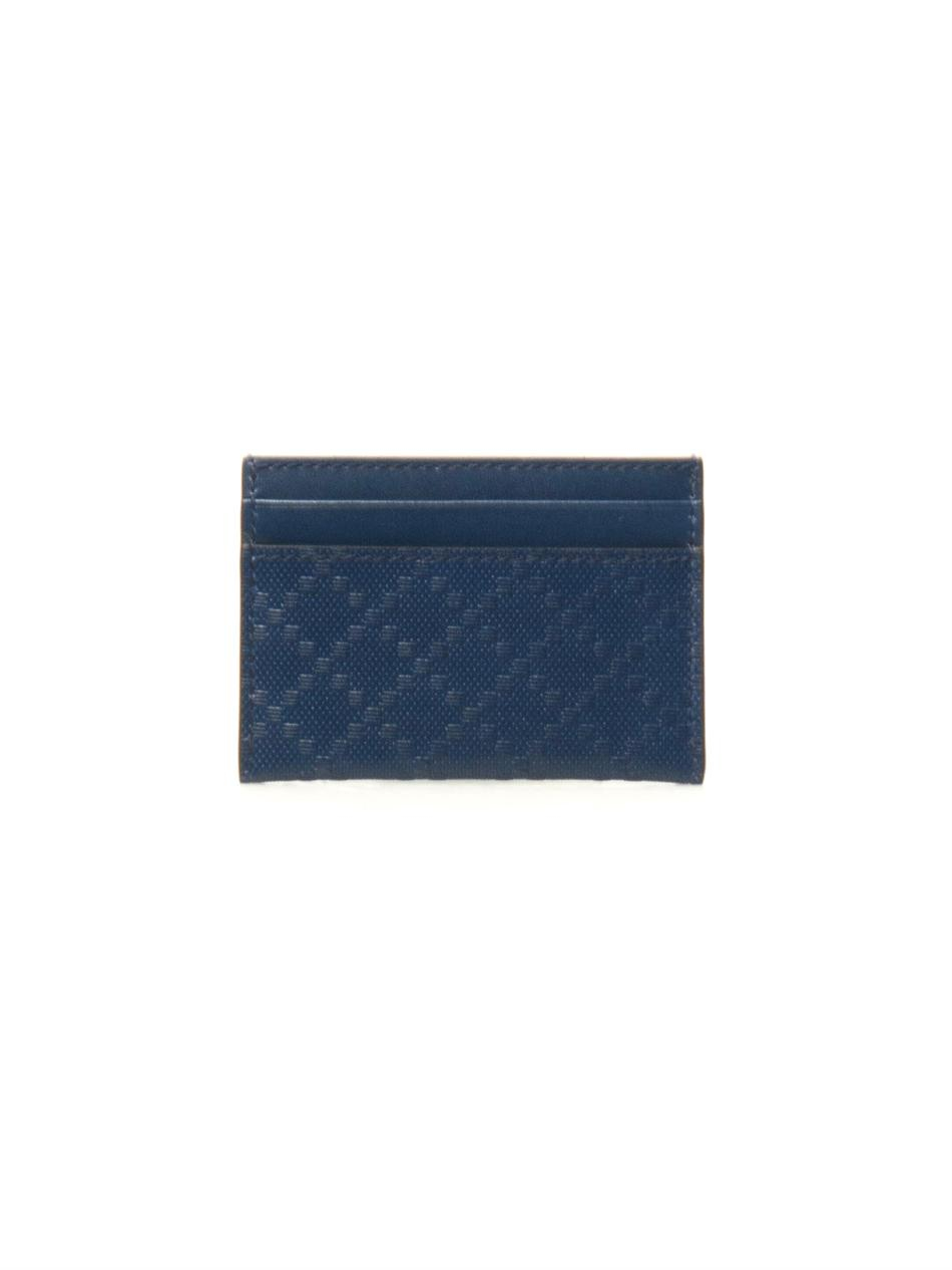 Gucci diamond textured leather cardholder in blue for men lyst gallery magicingreecefo Images