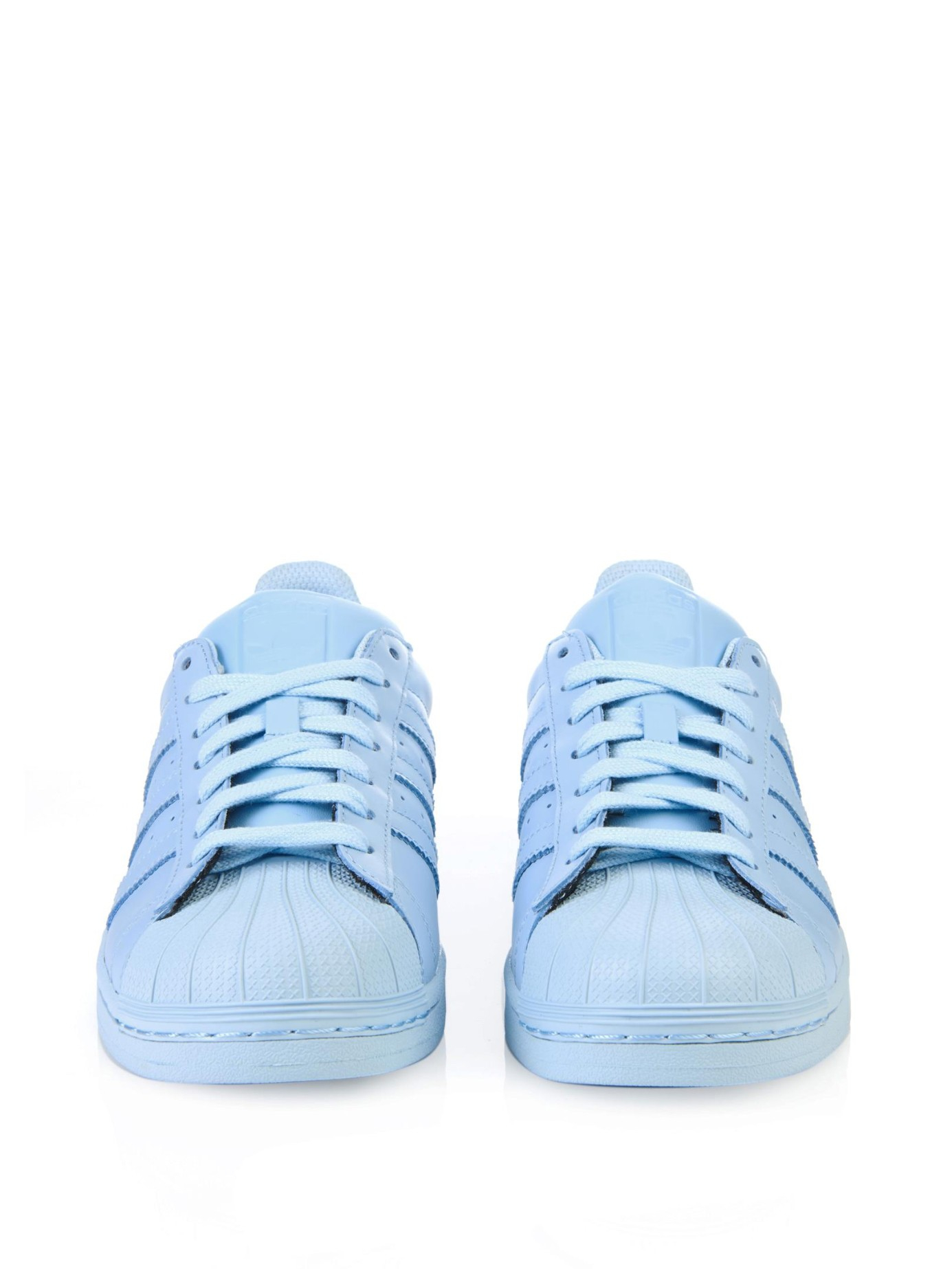 best website 30bd6 ad35c sale lyst adidas superstar supercolor leather trainers in blue f3f68 8444e