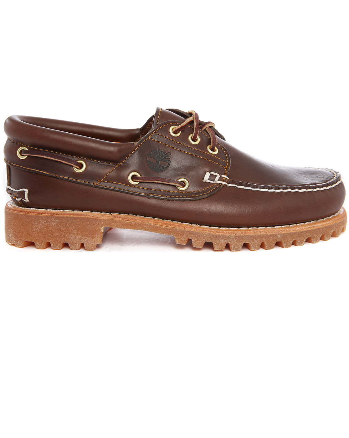 timberland authentic brown leather boat shoes in brown for
