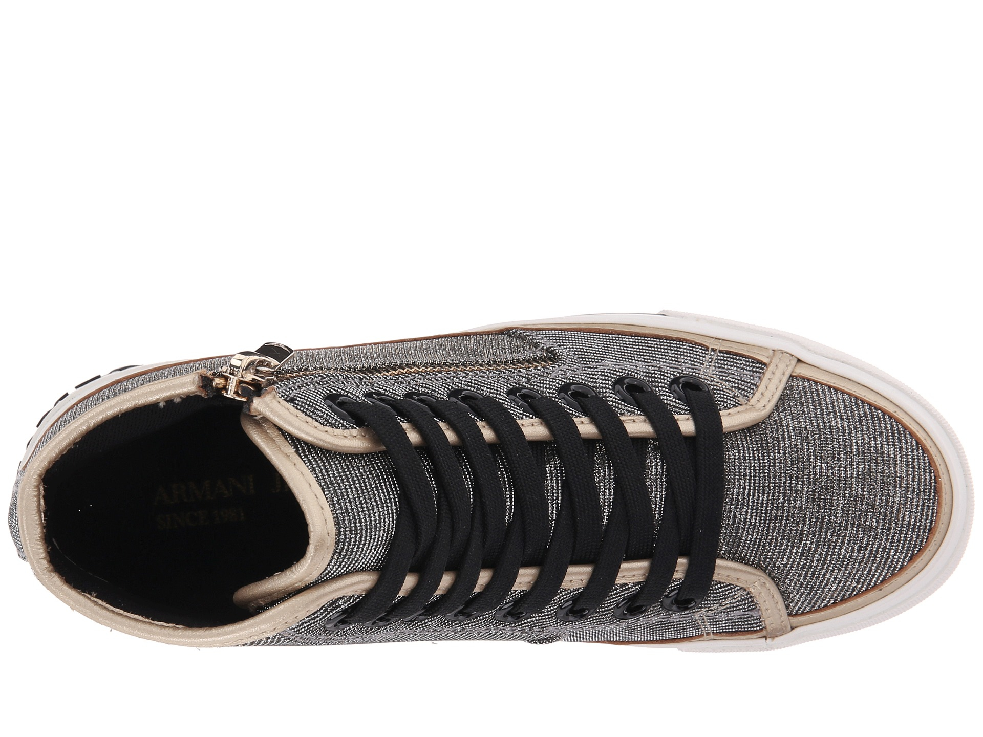 13ccc584b1a2 Armani Jeans Lurex Effect With Giraffe Print Sneaker in Gray for Men ...