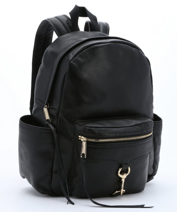 lyst rebecca minkoff black leather 39 mab baby 39 diaper backpack in black. Black Bedroom Furniture Sets. Home Design Ideas