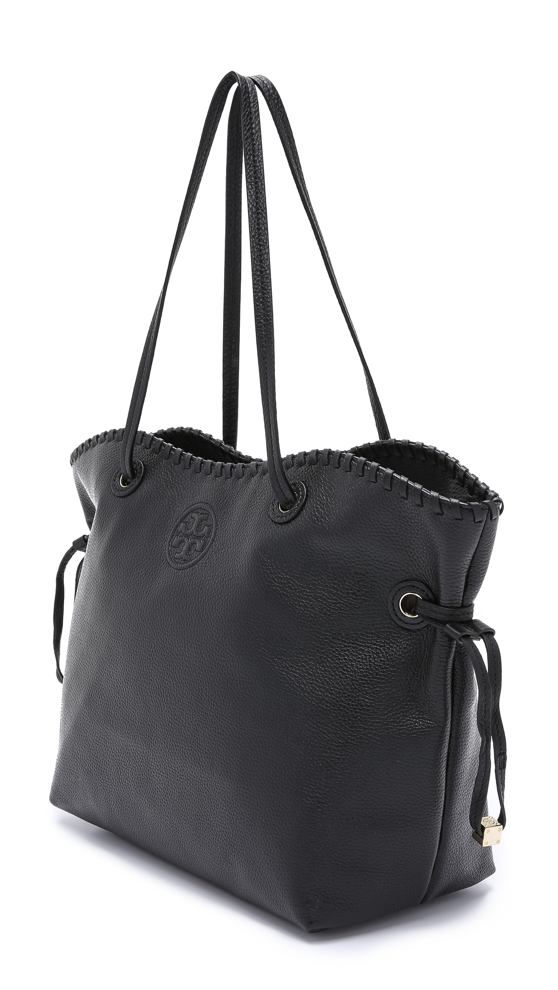 0ca4d95846d Lyst - Tory Burch Marion Slouchy Tote - Black in Black