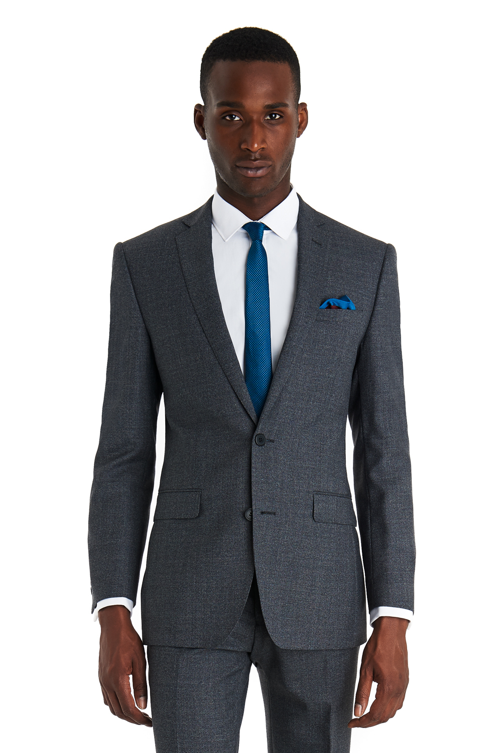 French connection Slim Fit Grey Textured Suit in Gray for Men | Lyst