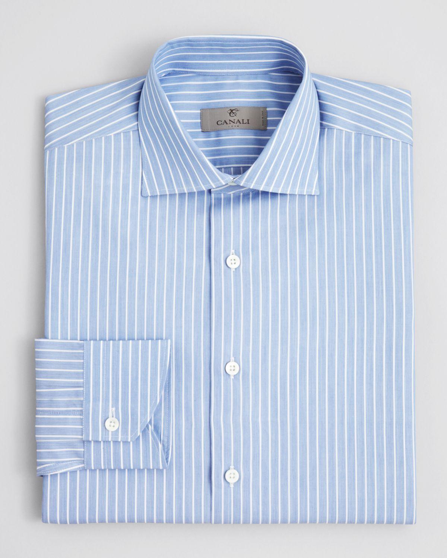 Blue pinstripe dress shirt