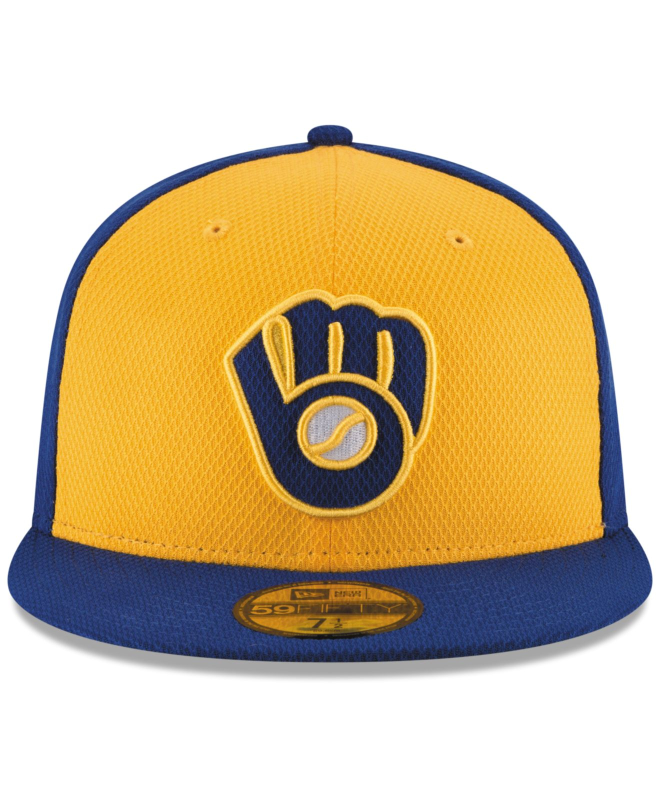 cheap for discount 2694f 15a91 ... sale lyst ktz milwaukee brewers diamond era 59fifty cap in blue for men  63a90 89148